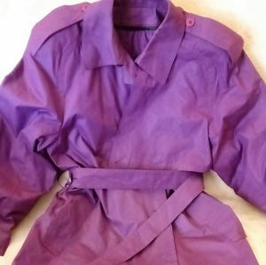 Trench Coat_London Fog_Purple